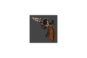 1858 Revolver Blood Camo Battle Scarred