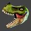 Discount T-REX Mask | Green