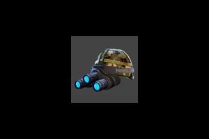 Nightvision Helmet Blue Glow