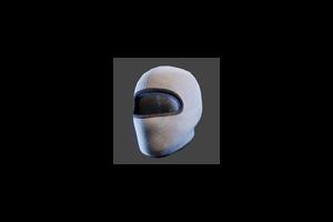 Ski Mask White Black