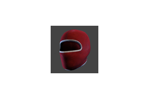 Ski Mask Red White