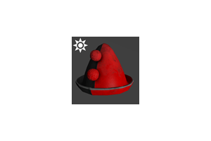 Sideshow Clown Hat Red Black