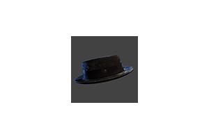 Porkpie Hat Black