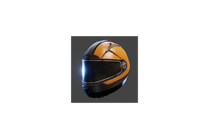 Motorcycle Helmet Orange