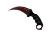 ★ StatTrak™ Karambit | Crimson Web (Battle-Scarred)