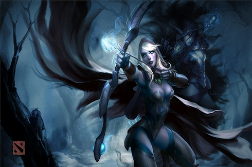 Autographed Traxex the Drow Ranger Prices