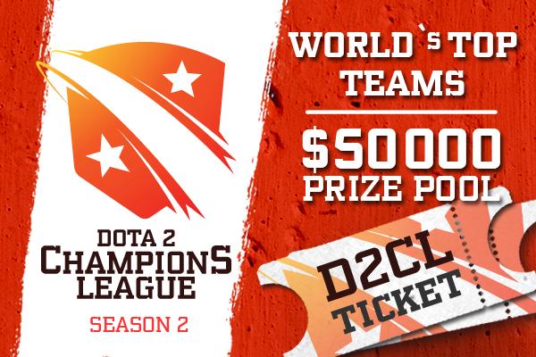 Buy & Sell Dota 2 Champion's League Season 2 Ticket - No Contribution