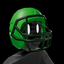 American Football Helmet Green