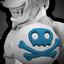 Pirate Shoulder Skull