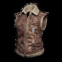 Sleeveless Biker Jacket (Brown)