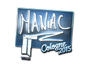 Sticker | Maniac (Foil) | Cologne 2015