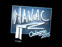 Sticker | Maniac (Foil) | Cologne 2015