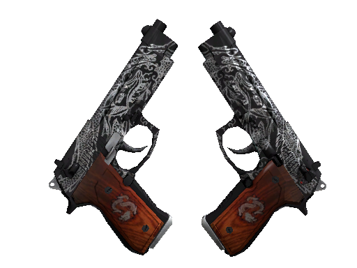 Dual Berettas | Dualing Dragons (Battle-Scarred)