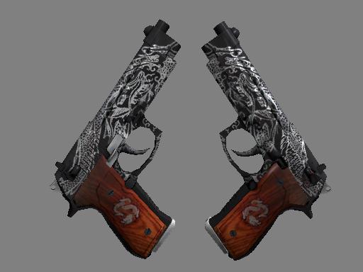 Dual Berettas   Dualing Dragons (Battle-Scarred)