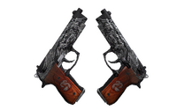 StatTrak™ Dual Berettas | Dualing Dragons (Well-Worn)