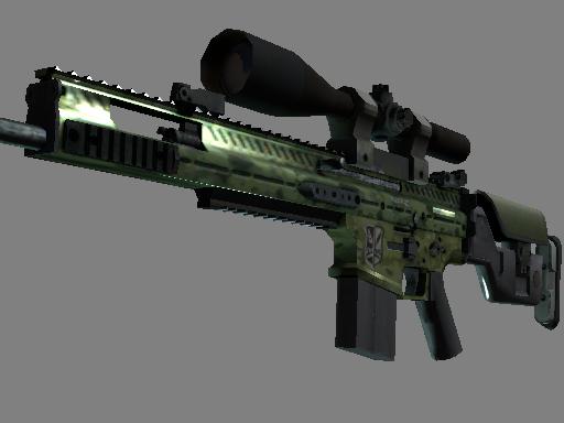 StatTrak™ SCAR-20 | Green Marine (Minimal Wear)
