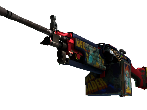 StatTrak™ M249 | Nebula Crusader (Well-Worn)