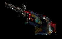 StatTrak™ M249 | Nebula Crusader (Well-Worn)
