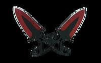★ Shadow Daggers | Crimson Web (Well-Worn)