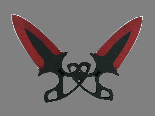 ★ Shadow Daggers | Crimson Web (Minimal Wear)