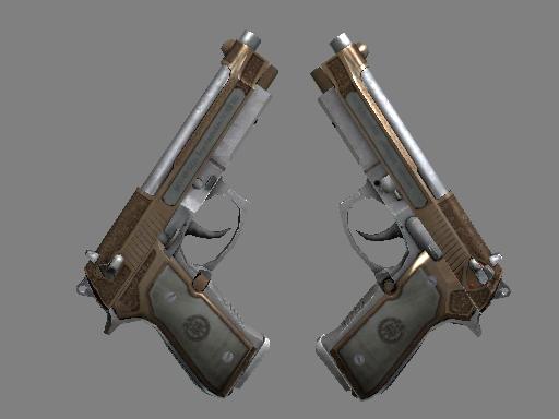 StatTrak™ Dual Berettas | Cartel (Battle-Scarred)