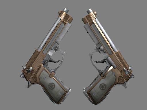 StatTrak™ Dual Berettas | Cartel (Well-Worn)