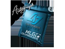 Autograph Capsule   Counter Logic Gaming   MLG Columbus 2016