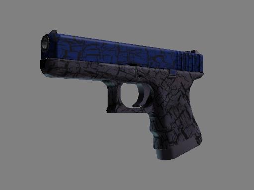 Glock-18 | Blue Fissure (Minimal Wear)
