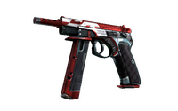 CZ75-Auto | Red Astor (Minimal Wear)