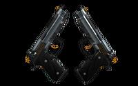 StatTrak™ Dual Berettas | Ventilators (Well-Worn)