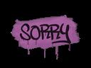 Sealed Graffiti | Sorry (Bazooka Pink)