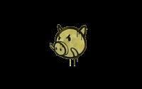 Sealed Graffiti   Piggles (Tracer Yellow)