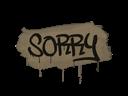 Sealed Graffiti | Sorry (Dust Brown)