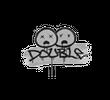 Запечатанный граффити | Минус два (Акулий белый)