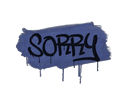 Sealed Graffiti | Sorry (SWAT Blue)