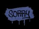 Sealed Graffiti | Sorry (SWAT Blue)