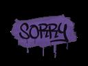 Sealed Graffiti | Sorry (Monster Purple)