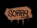 Sealed Graffiti | Sorry (Tiger Orange)