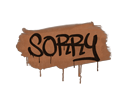 Sealed Graffiti | Sorry (Tiger Orange)