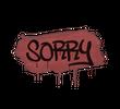 Запечатанный граффити | Прости (Кровавый красный)