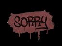 Sealed Graffiti | Sorry (Brick Red)