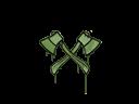 Sealed Graffiti   X-Axes (Battle Green)