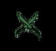 Запечатанный граффити   Скрещенные ножи (Лесной зеленый)