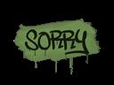 Sealed Graffiti | Sorry (Battle Green)