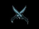 Sealed Graffiti | X-Knives (Wire Blue)