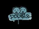 Sealed Graffiti | Double (Wire Blue)
