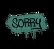 Запечатанный граффити   Прости (Лягушачий зеленый)