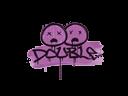 Sealed Graffiti | Double (Bazooka Pink)