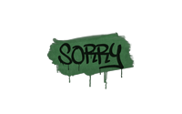 Sealed Graffiti   Sorry (Jungle Green)