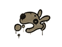 Sealed Graffiti | Popdog (Dust Brown)